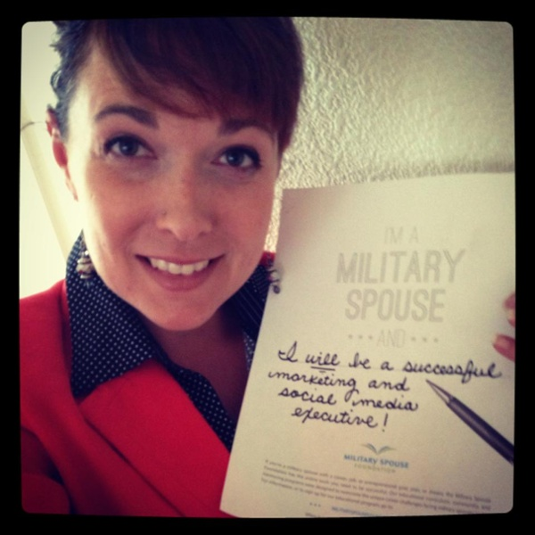 I'm a military spouse and... I WILL be a successful marketing and social media executive!