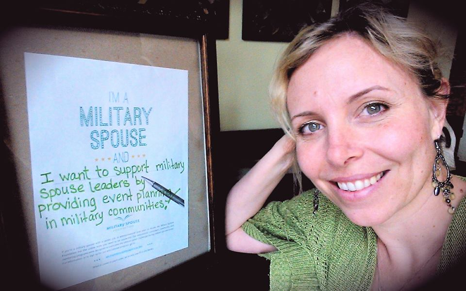 I'm a military spouse and ... I want to support military spouse leaders by providing event planning in military communities.