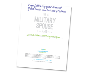 Military Spouse Career Dream Card Example