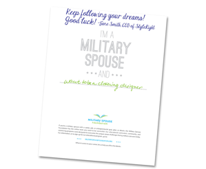 Military Spouse Career Dream Card Example
